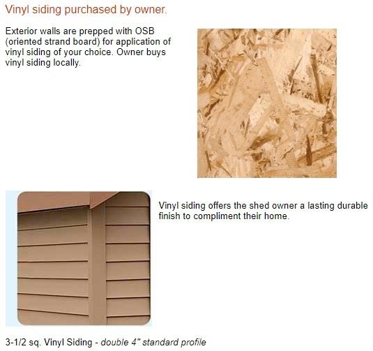 Best Barns South Dakota 12x20 Vinyl Siding Wood Shed Kit (southdakota_1220) Vinyl Siding Material