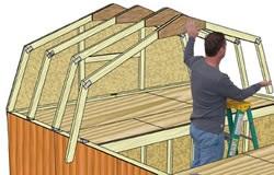 Best Barns Tahoe 12x20 Wood Storage Garage Kit (tahoe_1220) DIY Assembly Step One