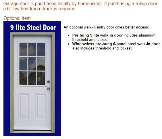 Best Barns Tahoe 12x20 Wood Storage Garage Kit (tahoe_1220) Optional Walk-In Door