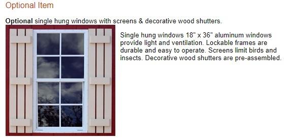Best Barns Tahoe 12x20 Wood Storage Garage Kit (tahoe_1220) Optional Windows
