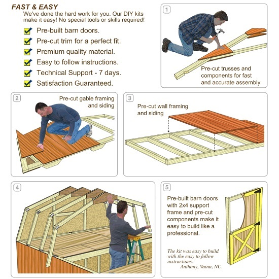 Best Barns Woodville 10x16 Wood Storage Shed Kit (woodville_1016) DIY Assembly No Skill Required
