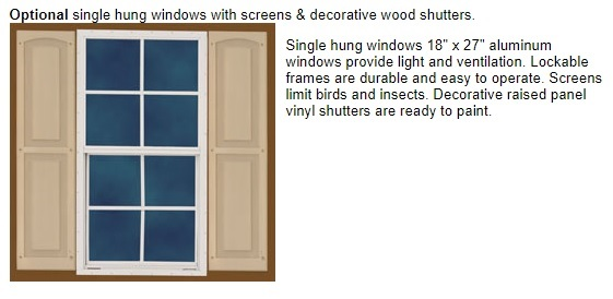Best Barns Woodville 10x16 Wood Storage Shed Kit (woodville_1016) Optional Window