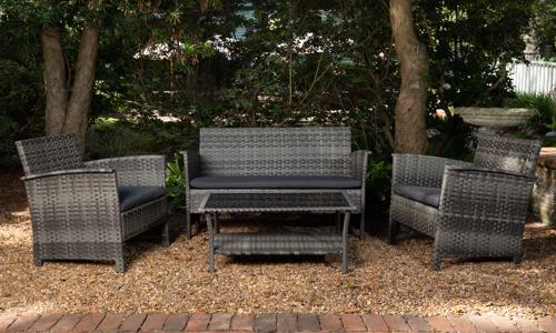 Patio Sense Jareth Wicker Chair Set - Dray (63177) Enjoy your indoor-outdoor moments by seating to this glamorous wicker chair set!