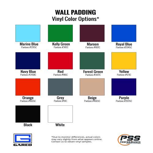 Gared Corner Wall Pad with Bonded Polyurethane Foam, Standard Size - 4320-STD