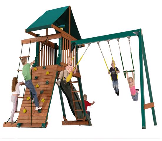 Handy Home Heartland Captain's Loft Wood Swing Set (4428) - Best ever playset that your child's imagination starts here.