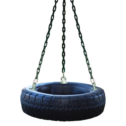 Handy Home Roto Tire Swing (4058) Kids' can spin 360 degrees while hanging onto the pinch-free chains.
