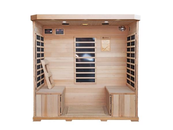 HeatWave 4-Person Sonoma Hemlock Infrared Sauna with 9 Carbon Heaters (SA7020) Inside view of the Sonoma 4-Person Infrared Sauna