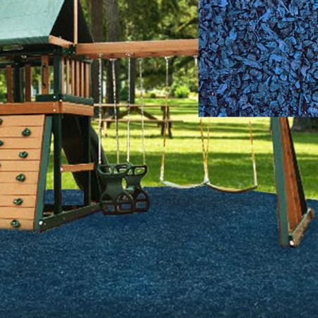 KidWise Playground Recycled Rubber Mulch - Blue (KW-BLM-2000) This is great for outdoor play area, and keeps the maintenance cost low for parents.