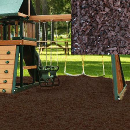 KidWise Playground Recycled Rubber Mulch - Chocolate Brown (KW-BRM-2000) Protect your children from injuries when they fall.