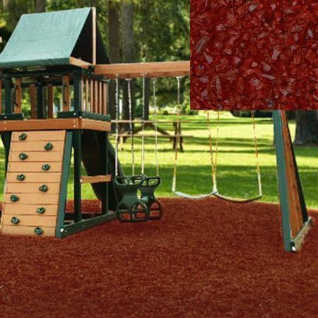KidWise Playground Recycled Rubber Mulch - Cedar Red (KW-RM-2000) This rubber mulch will prevent your children from heavy falling.