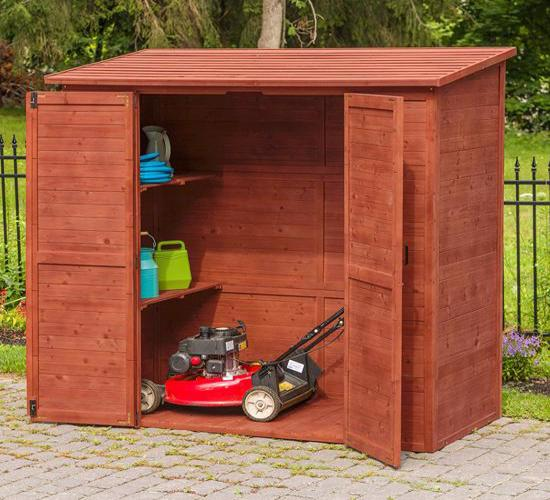 Leisure Season 6x3 Extra Large Storage Wood Shed Kit (ELSS2003) Great storage solution for your lawn and garden equipment.