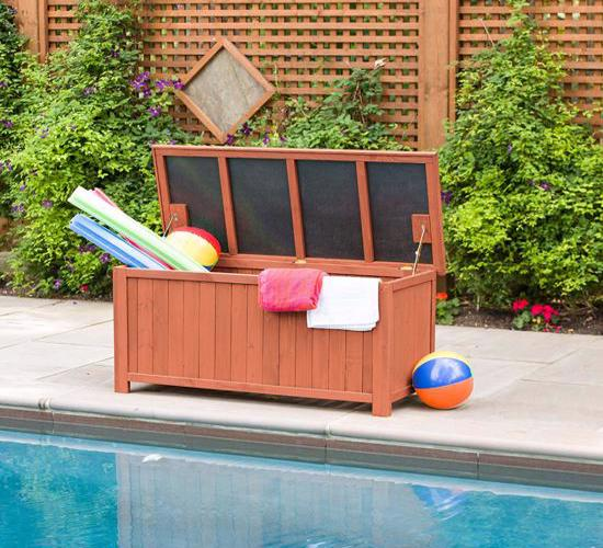Leisure Season Deck Storage Box (DB4820) Turn this deck into a storage space for your pool toys and equipments