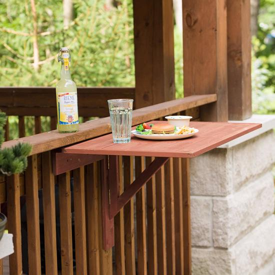 Leisure Season Wall Mounted Drop Leaf Table (DL6322) Holds your food while you enjoy the outdoor air.
