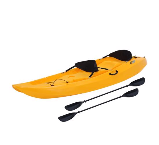 Lifetime 10 ft Sit-On-Top Tandem Kayak - Yellow (90118) - Designed for fishing,surfing or sailing.