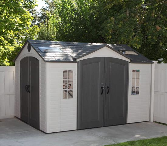 Lifetime 10x8 ft Garden Shed Kit - Double Doors (60001) - Provides extra space needed while accenting the beauty of your backyard.