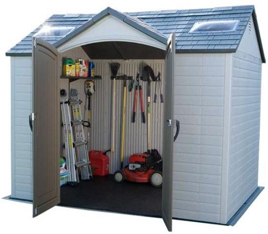 Lifetime 10x8 ft Garden Storage Shed Kit (60005) - Perfect storage for your garden tools and other stuff.