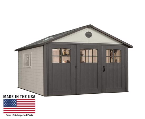 Lifetime 11x16 ft Storage Shed Kit with Tri-Fold Doors (60187 / 20125) - Perfect garage and storage sheds.