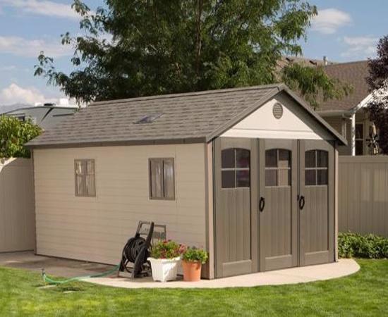 Lifetime 11x18.5 ft Storage Garage Shed Kit (60236) - Attractive and excellent garage shed.