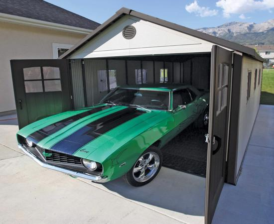 Lifetime 11x21 ft Storage Building Kit - Tri-Fold Doors (60237) - Excellent car garage and storage solution