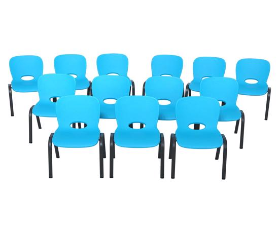 Lifetime 13-pack Contemporary Children's Stacking Chairs - Glacier Blue (80475) - Convenient and perfect for indoor or out for a variety of projects.