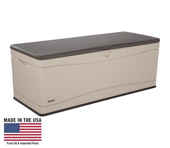 Lifetime 130 Gallon Outdoor Deck Storage Box (60012) - Great to expand patio storage.