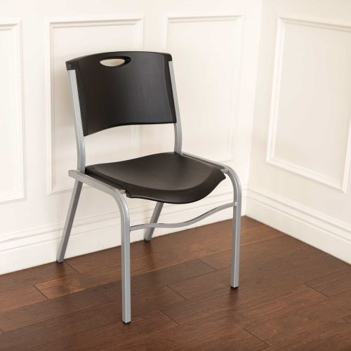 Lifetime 14-Pack Commercial Contoured Stacking Chairs Black 2830-perfect for indoor and outdoor events.