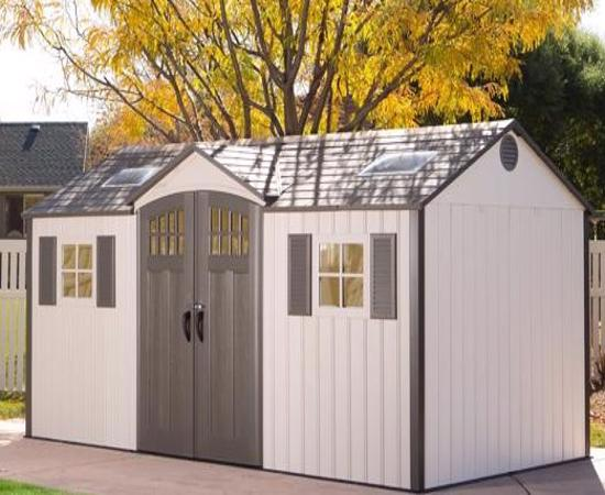 Lifetime 15x8 New Style Storage Shed Kit w/ Floor (60138) -  Keep all your tools and garden equipment conveniently stored.