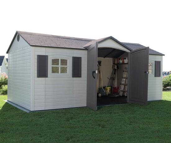 Lifetime 15x8 ft Garden Storage Shed Kit (6446) -  Keep all your tools and garden equipment conveniently stored