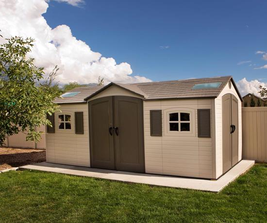 Lifetime 15x8 ft Storage Shed Kit - Dual Entry (60079) - Designed with all the features that you appreciate in an outdoor shed.