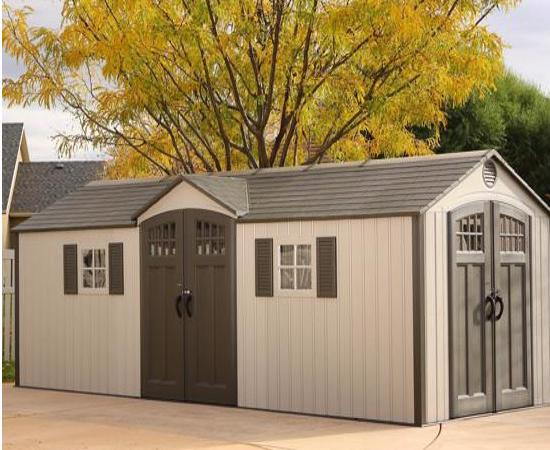 Lifetime 20x8 New Style Storage Shed Kit w/ Floor (60127) - Strong and low maintenance perfect for solutions for storage needs.