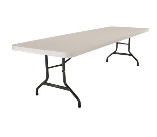 Lifetime 21-Pack  8 Ft. Commercial Plastic Folding Banquet Tables - Almond (82984) - Handy and great for gatherings or community events indoors or out.