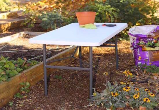 Lifetime 24-Pack 4 ft. Light Commercial Table - White (2940) -Great and convenient for outdoor use