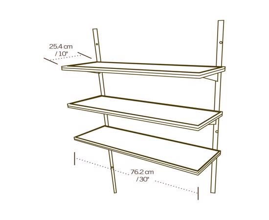 Lifetime Shed 3 Piece 30 in. Shelf Accessory Kit (0130) -  Perfect shelf for Lifetime shed.
