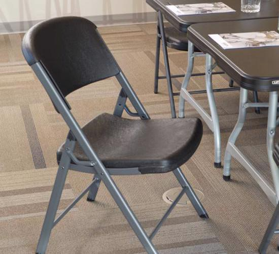Lifetime 32-Pack Commercial Contoured Folding Chairs - Black (80061) - Great for big events and parties.
