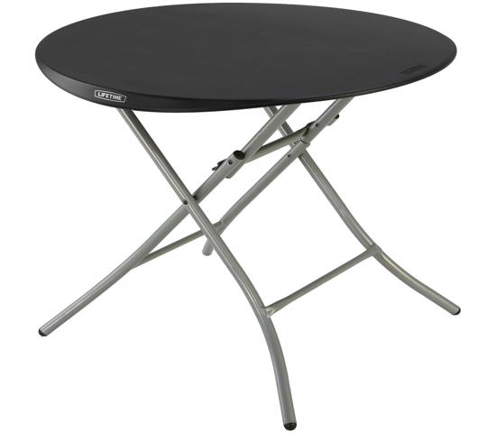 Lifetime 33-Inch Round Folding Table - Black (80351) - Create the perfect set-up for a cocktail party, work event or family gathering.