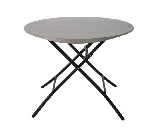 Lifetime 33 in. Round Folding Table - Putty (80230) -  Extra space for indoor or outdoor use.