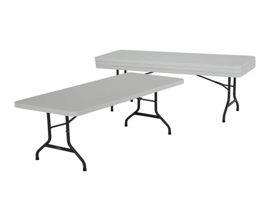 Lifetime 4-Pack 6 ft. Commercial Folding Banquet Tables - White (42901) - Attractive, durable 6 foot folding table will meet the needs of your busy lifestyle.