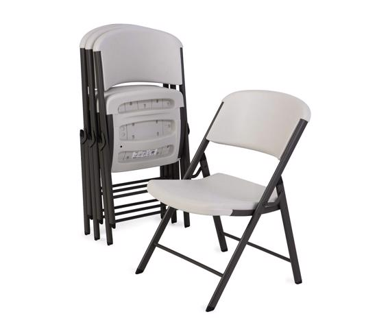 Lifetime 4-Pack Commercial Contoured Folding Chairs - Almond (428030) - Great investment in your entertaining needs.