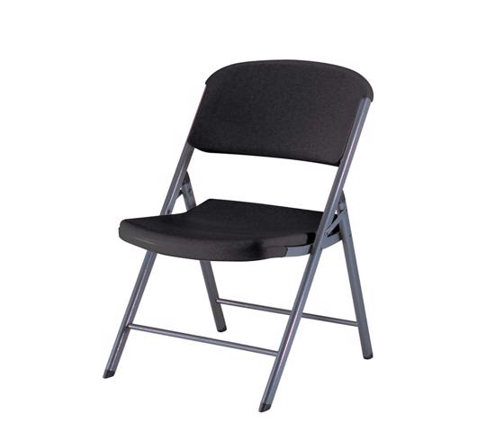 Lifetime 4-Pack Commercial Contoured Folding Chairs - Black (80187) - Ideal or your next meeting, event or family gathering.
