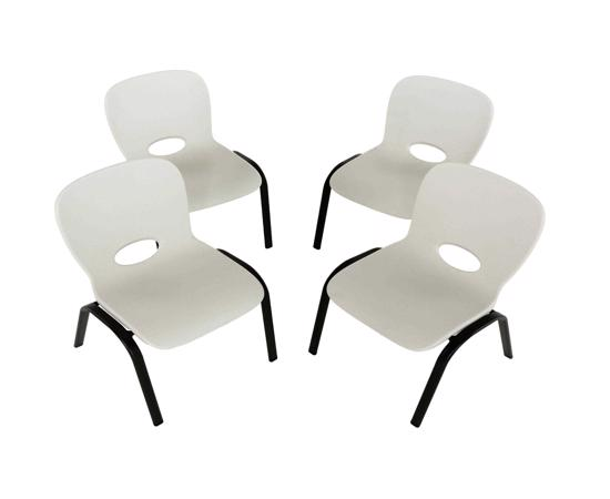 Lifetime 4-pack Contemporary Children's Stacking Chairs - Almond (80383) - Great for kids variety of projects.