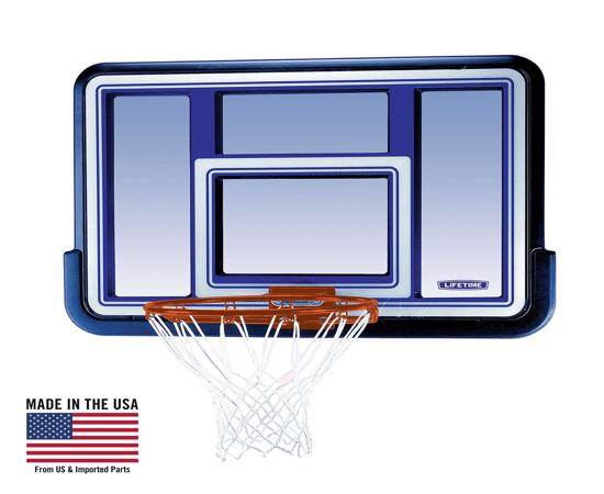 Lifetime 44 in. Acrylic Black Fusion Basketball Backboard with Slam-It Rim (73650) - Convenience of playing your favorite game at your own home.