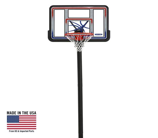 Lifetime 44 in. In-ground Basketball Hoop - Makrolon Polycarbonate Quick Adjust System (1008) - Brings amazing fun outside to your family and friends.