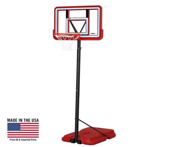 Lifetime 44in. Pro Court Shatterproof Fusion Portable Basketball Hoop - Red (90689) - This system is the perfect residential portable basketball system.