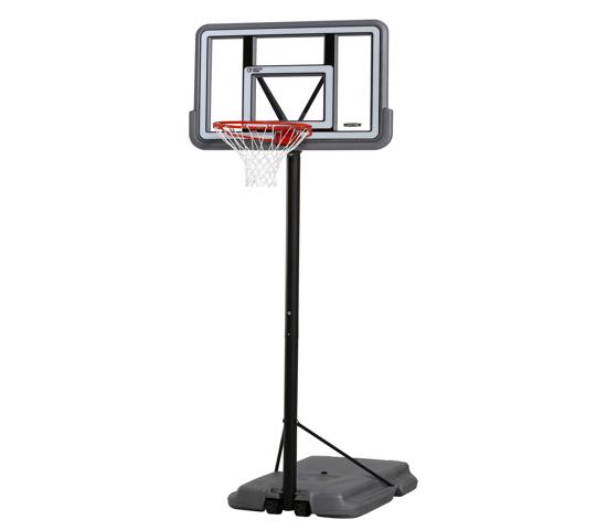 Lifetime 44in. Pro Court Shatterproof Fusion Portable Basketball Hoop - Silver (90690) - Ideal residential portable basketball system.