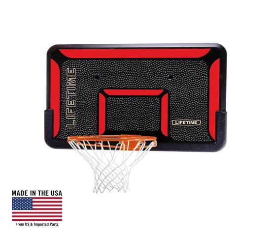 Lifetime 44 in. Rectangular Impact Basketball Backboard - Classic Rim (3823) - Bring excitement and fun with backboard and rim combo.