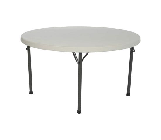 Lifetime 46 in. Commercial Round Plastic Folding Table - Almond (22968) - Perfect for home or office use
