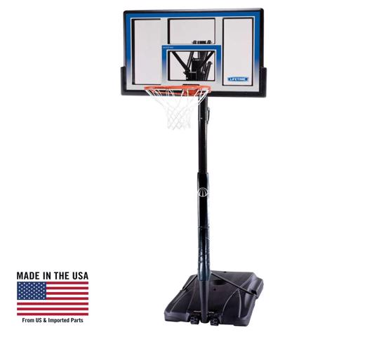 Lifetime 48 in. Courtside Portable Basketball Hoop (51550) -   Enjoy hours of fun with friends and family in the comfort of your own home.