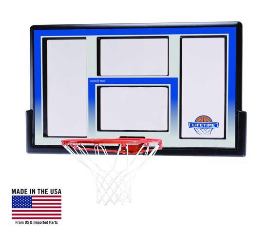 Lifetime 48 in. Shatter Proof Fusion Basketball Backboard, Orange Slam-It Rim (73621) - Enjoy the versatility of a backboard combo.