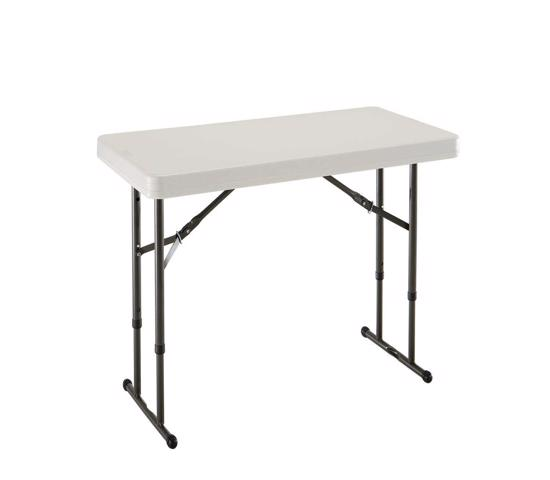 Lifetime 4 ft. Commercial Adjustable Height Folding Table - Almond (80161) - Ideal for indoor and outdoor use for both kids and adult