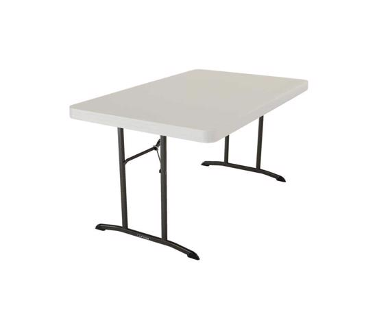 Lifetime 4ft. Commercial Plastic Folding Table - Almond (80568) - Lighter and durabl, perfect for indoor and outdoor.